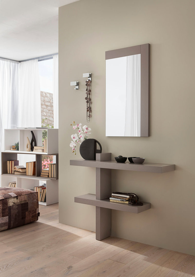 entrata lena mobile moderno con specchio per corridoio