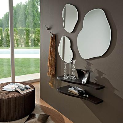 Tamigi ingresso moderno con specchi di design in due colori for Mobili di designer