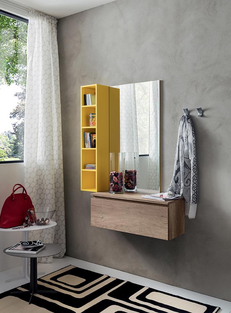 Ingresso colorato nilo n2 mobile con specchio libreria - Libreria con specchio ...