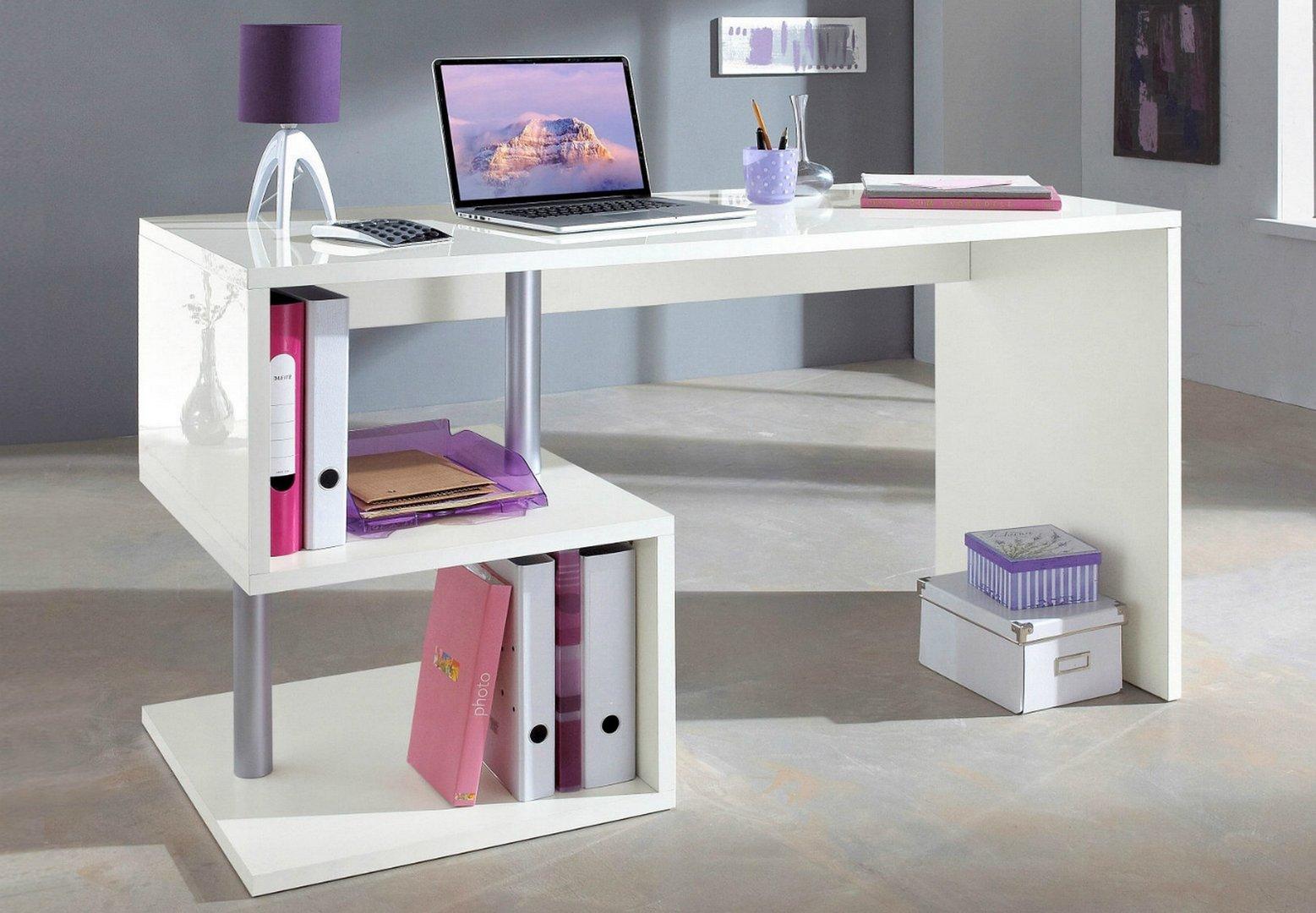 Scrivania Moderna Per Ragazzi : Scrivania moderna bianca e tavolo per ufficio studio mobile