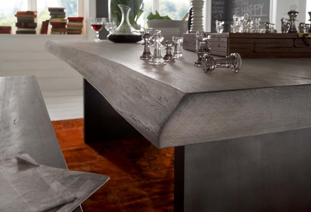 Tavolo da pranzo gold in legno massiccio mobile moderno for Tavolo legno grezzo bianco