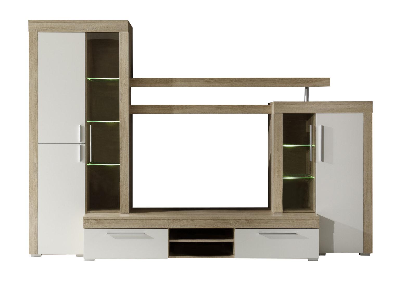 Soggiorno moderno Friend, parete porta tv di design con led