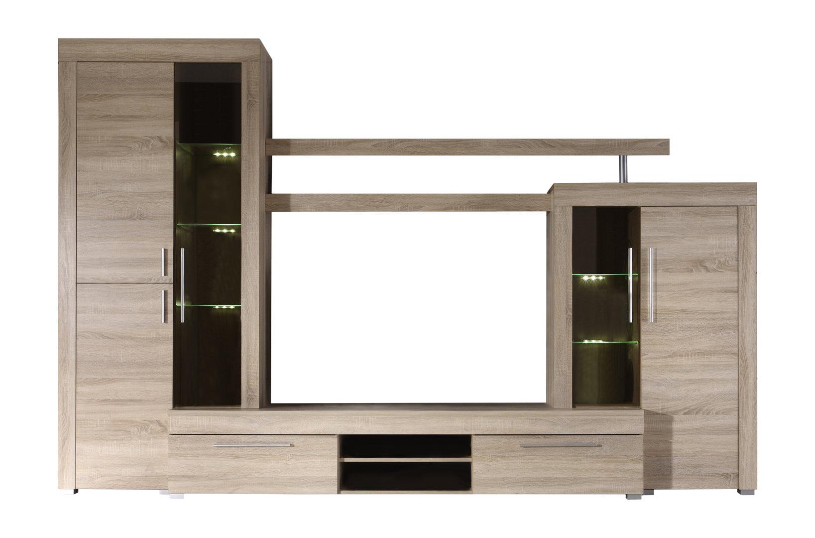 Soggiorno moderno friend parete porta tv di design con led for Pareti design moderno