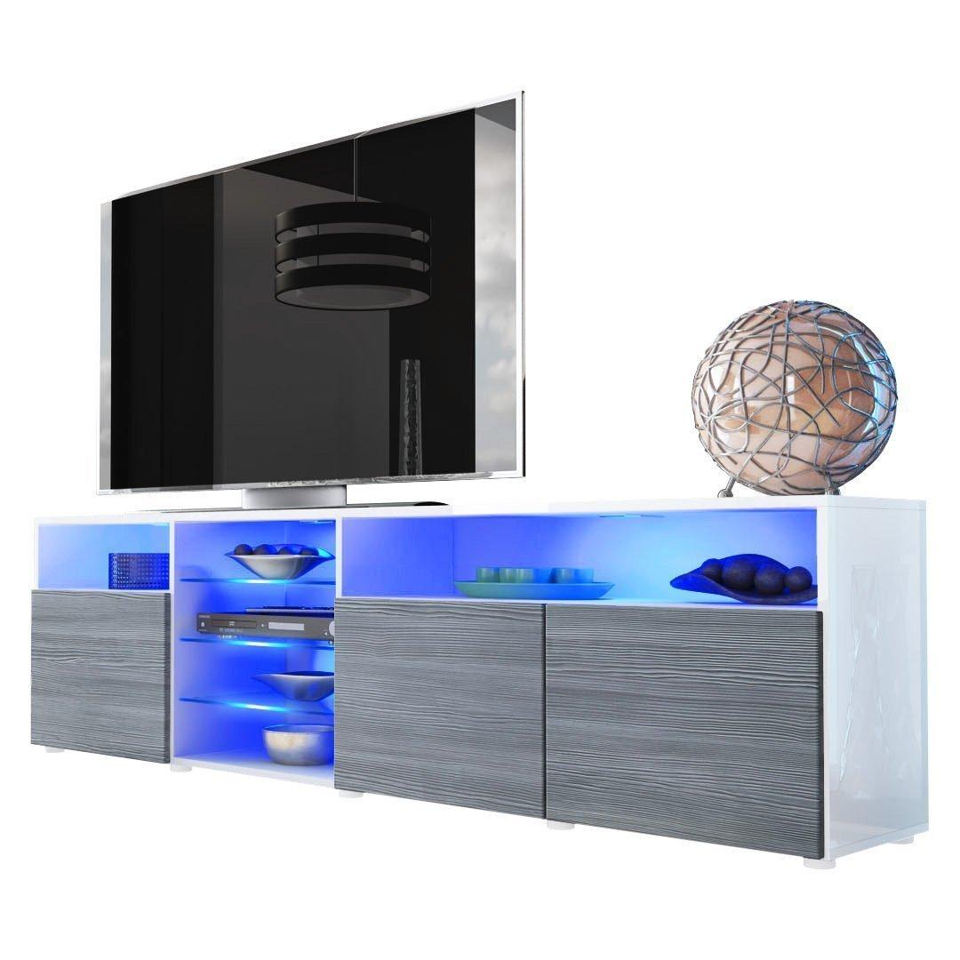 Illuminazione Mozart Prezzo : Porta tv moderno mozart mobile soggiorno bianco o nero