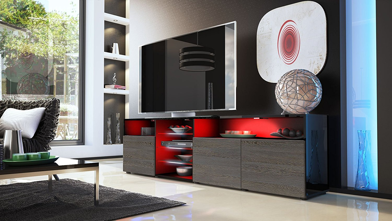 Porta tv moderno mozart mobile soggiorno bianco o nero for Mobile moderno soggiorno