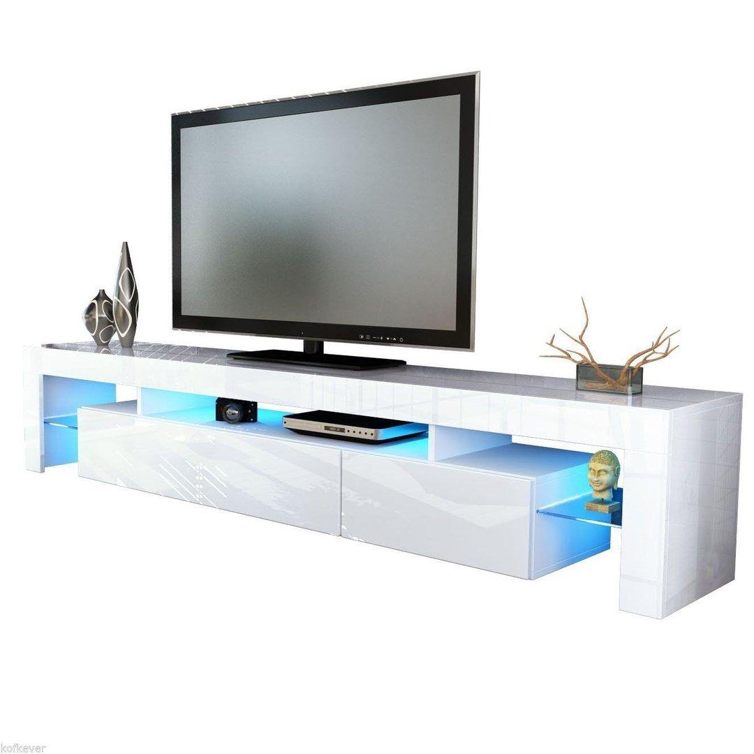 Porta tv vivaldi mobile bianco con led rgb per soggiorno - Mobili porta tv in vetro ...