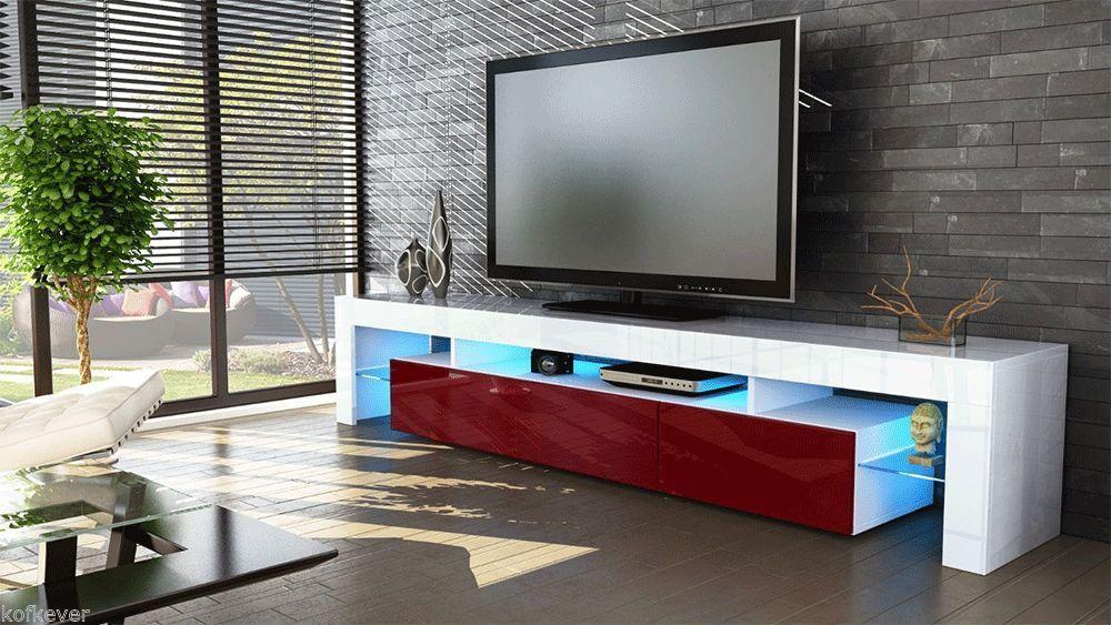 Pareti Soggiorno Bordeaux : Porta tv vivaldi mobile bianco con led rgb per soggiorno moderno