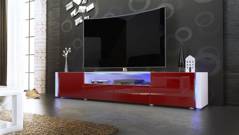 Illuminazione Per Soggiorno Moderno casanova porta tv moderno mobile soggiorno bianco con