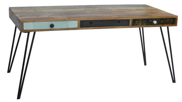 Tavolo da pranzo Bistrot,tavolo moderno vintage legno massiccio
