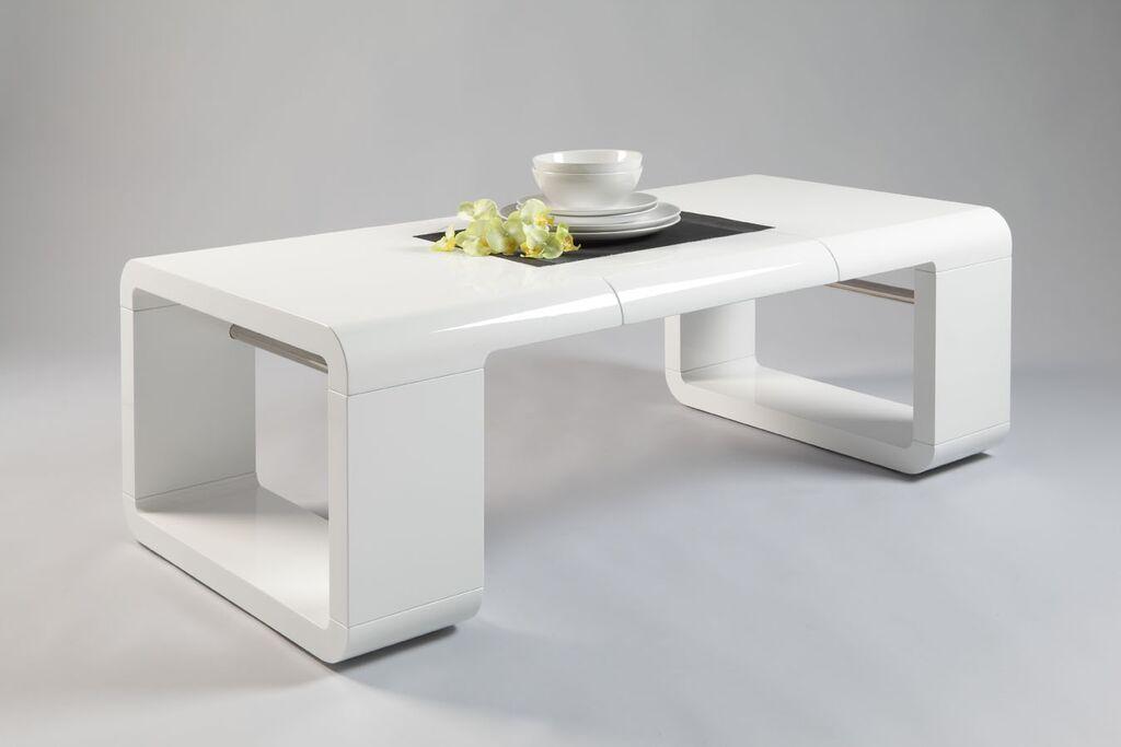 Tavolino da caff good tavolo moderno di design bianco o for Tavolo rovere bianco