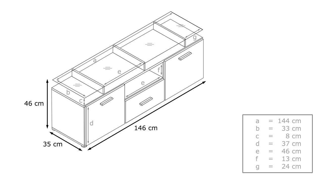 Porta tv design Milano, mobile soggiorno moderno in 13 colori