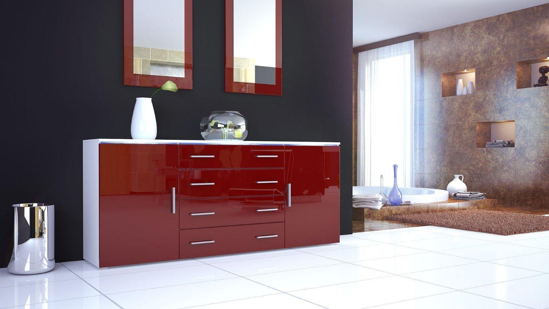 Credenza Moderna Rossa : Credenza moderna rossa: arredamento mobili e accessori per