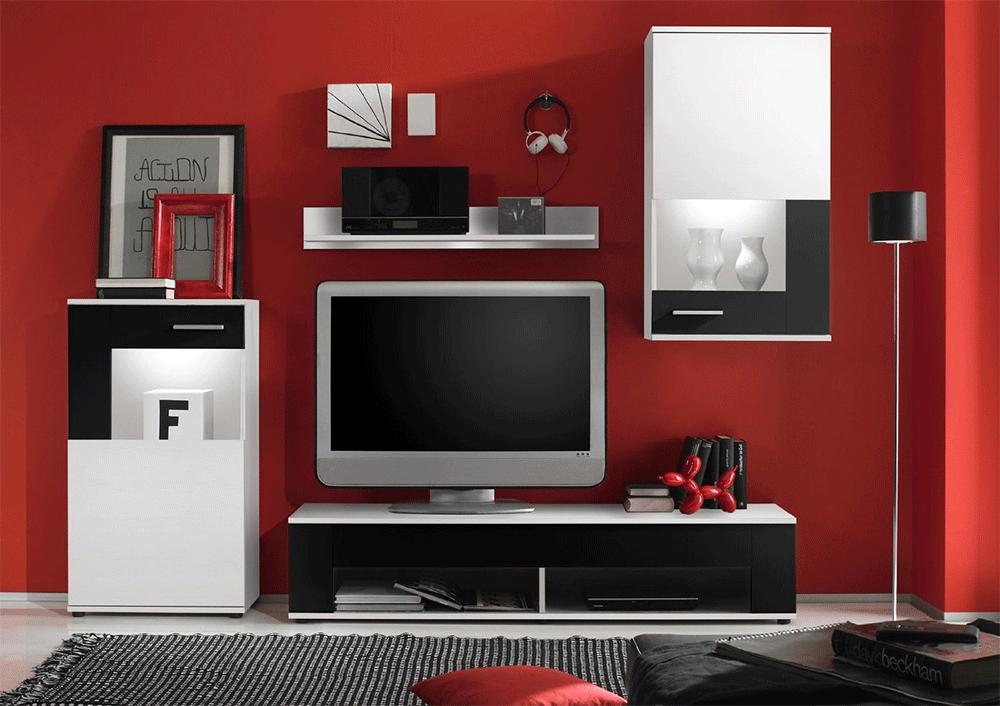 Firenze soggiorno moderno parete porta tv composizione design for Composizione soggiorno moderno