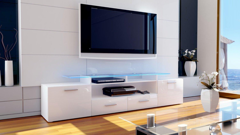 Mobile Tv Moderno Bianco : Milano porta tv mobile soggiorno moderno porta tv bianco o nero