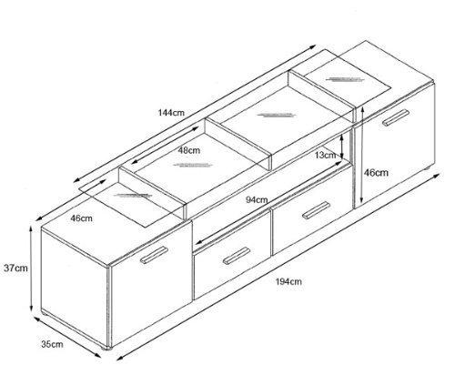 Valentino porta tv mobile soggiorno moderno porta tv - Dimensioni porta ...