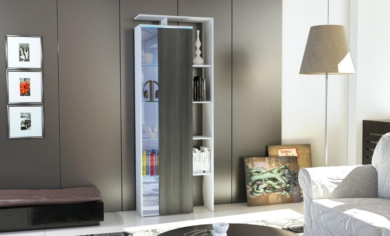 Vetrina moderna Gamonda, credenza design con led,mobile ...