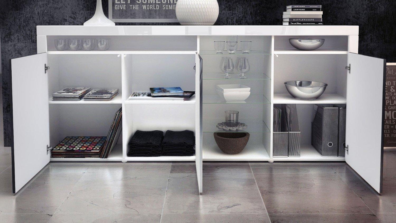 Credenza moderna capri mobile soggiorno con led colori di for Mobili moderni di design