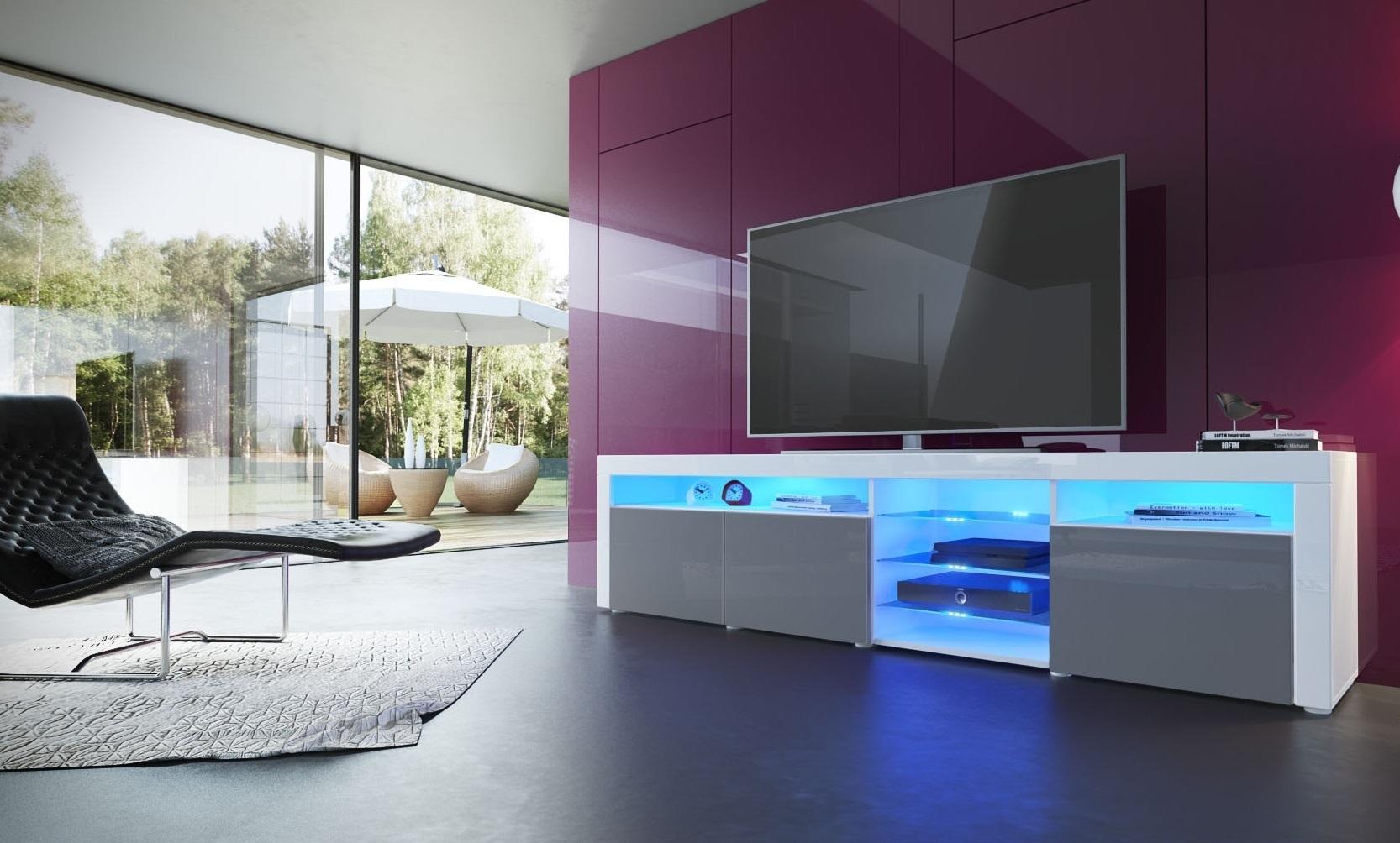 Porta tv moderno capri mobile soggiorno colori design con led - Mobile porta tv moderno design ...