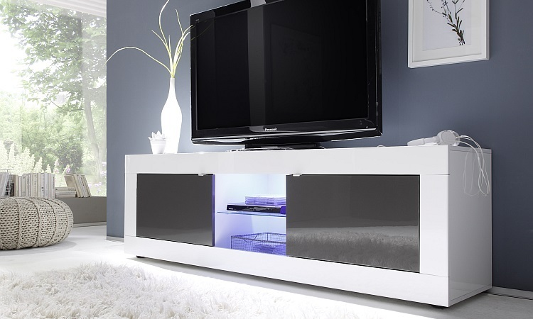 Mobile Tv Moderno Led : Porta tv square a mobile per tv soggiorno moderno con led