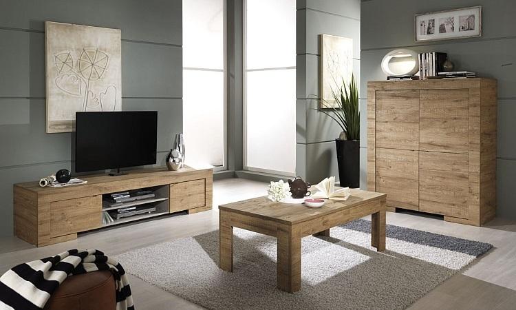 Porta tv moderno Country 02,mobile soggiorno design rovere miele