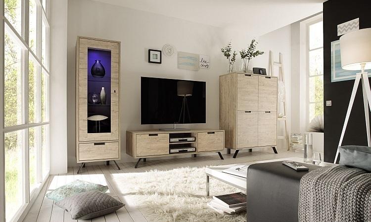 tv moderno,mobile soggiorno di design in Sherwood oak Giro PTV cm ...