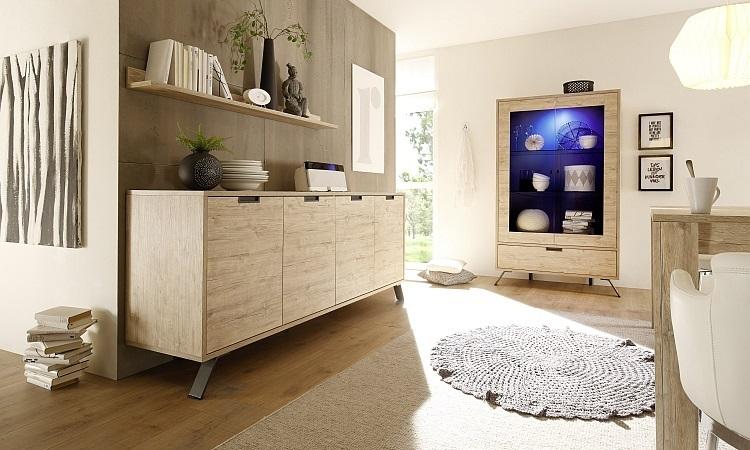 Credenza Con Vetrinetta Moderna : Vetrina moderna credenza a due ante mobile soggiorno di design
