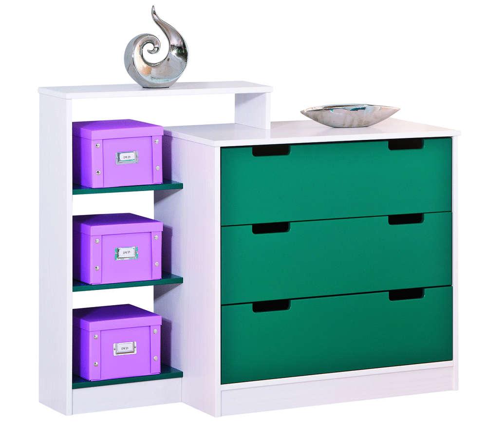 Cassettiere Colorate Per Camerette.Cassettiera Moderna Happy Mobile Ragazzi Cameretta Rosa O Verde