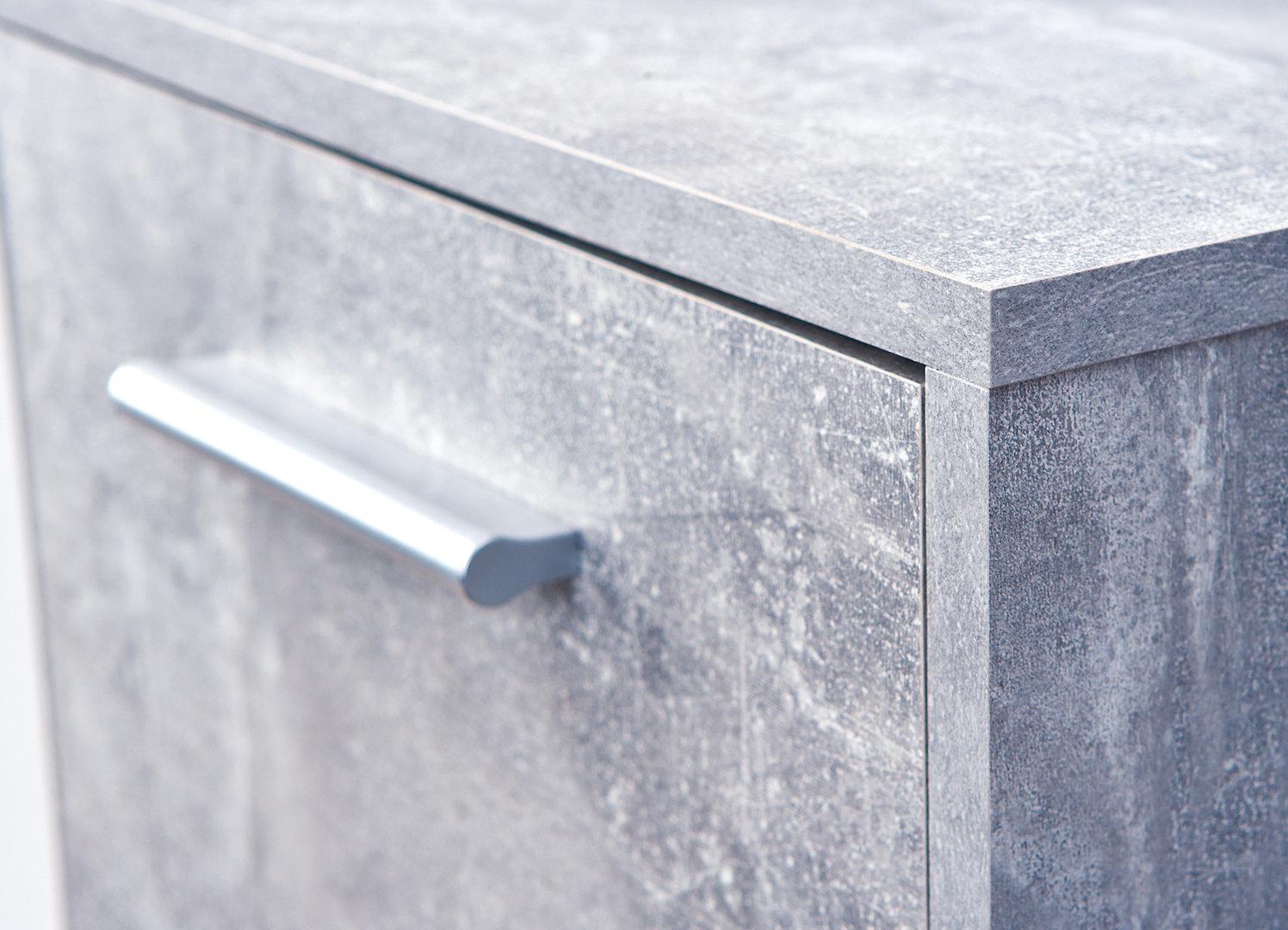 Credenza Moderna Cemento : Credenza moderna giorgia mobile soggiorno bianco e cemento