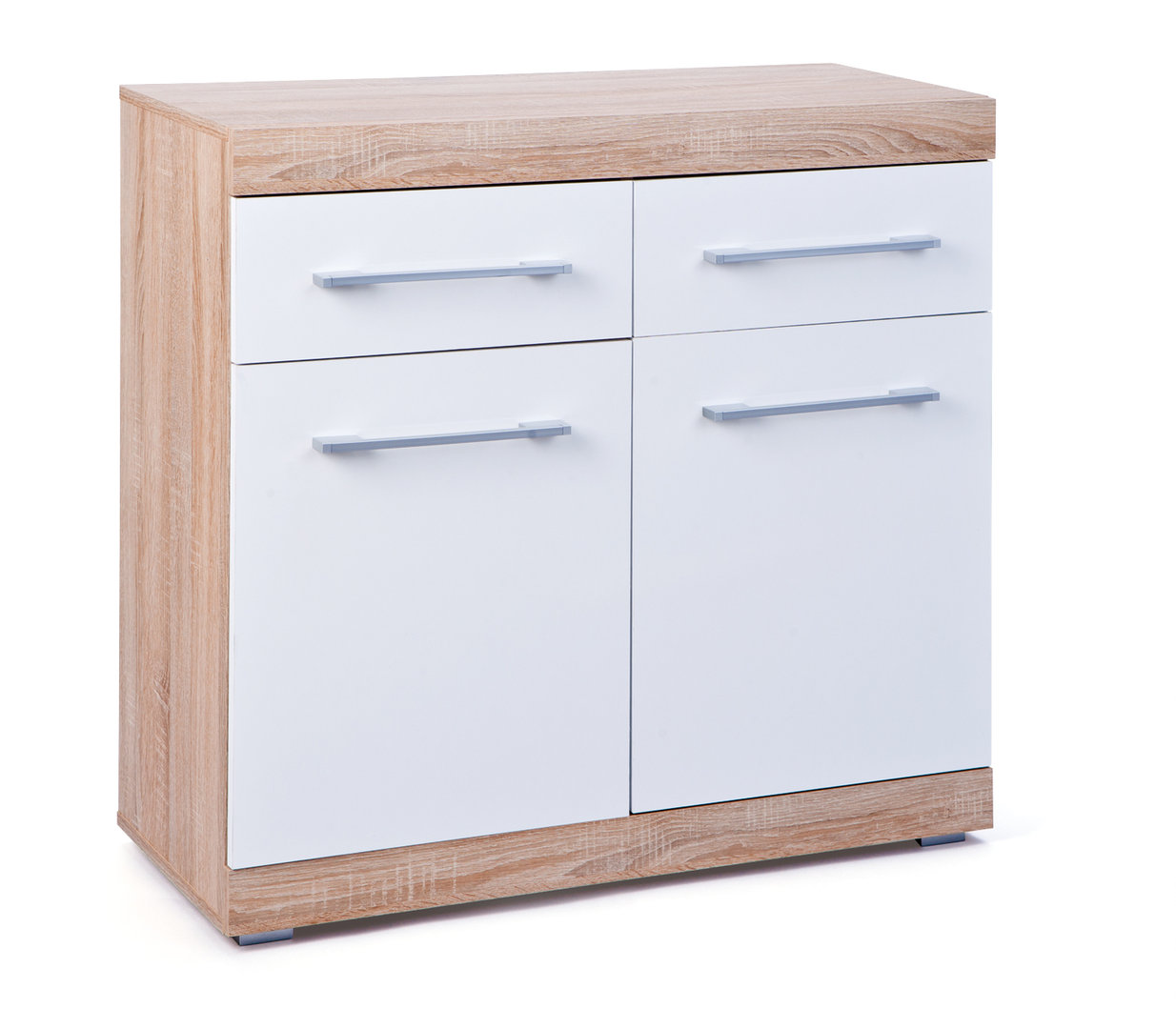 Mobile moderno sara 55 credenza design mobiletto bianco e for Mobiletto design