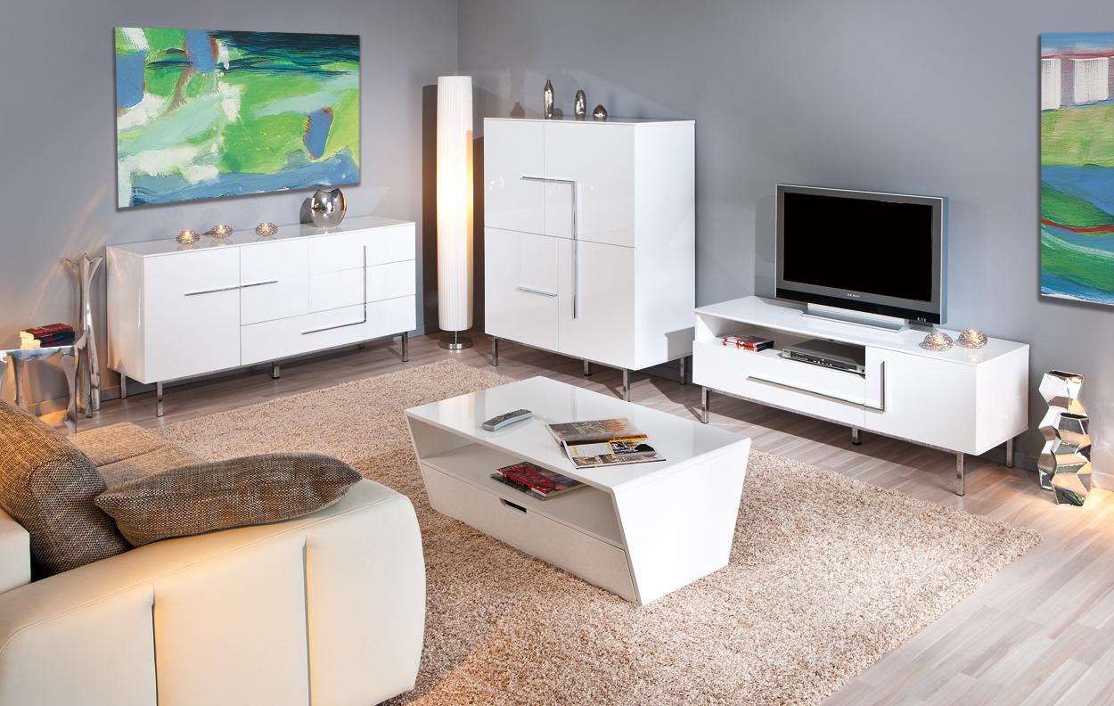 Porta tv moderno jole 23 mobile tv bianco soggiorno di design for Mobili salotto design