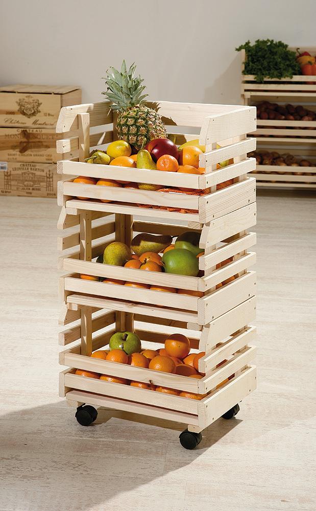 Carrello apple mobile moderno per cucina pratico e - Carrello cucina moderno ...