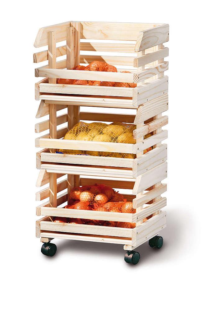 Carrello Apple, mobile moderno per cucina, pratico e funzionale