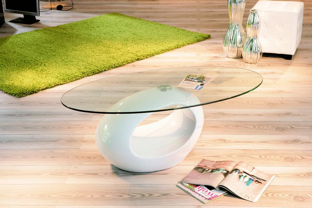 Tavolino moderno over mobile soggiorno bianco o nero con for Mobile soggiorno vetro