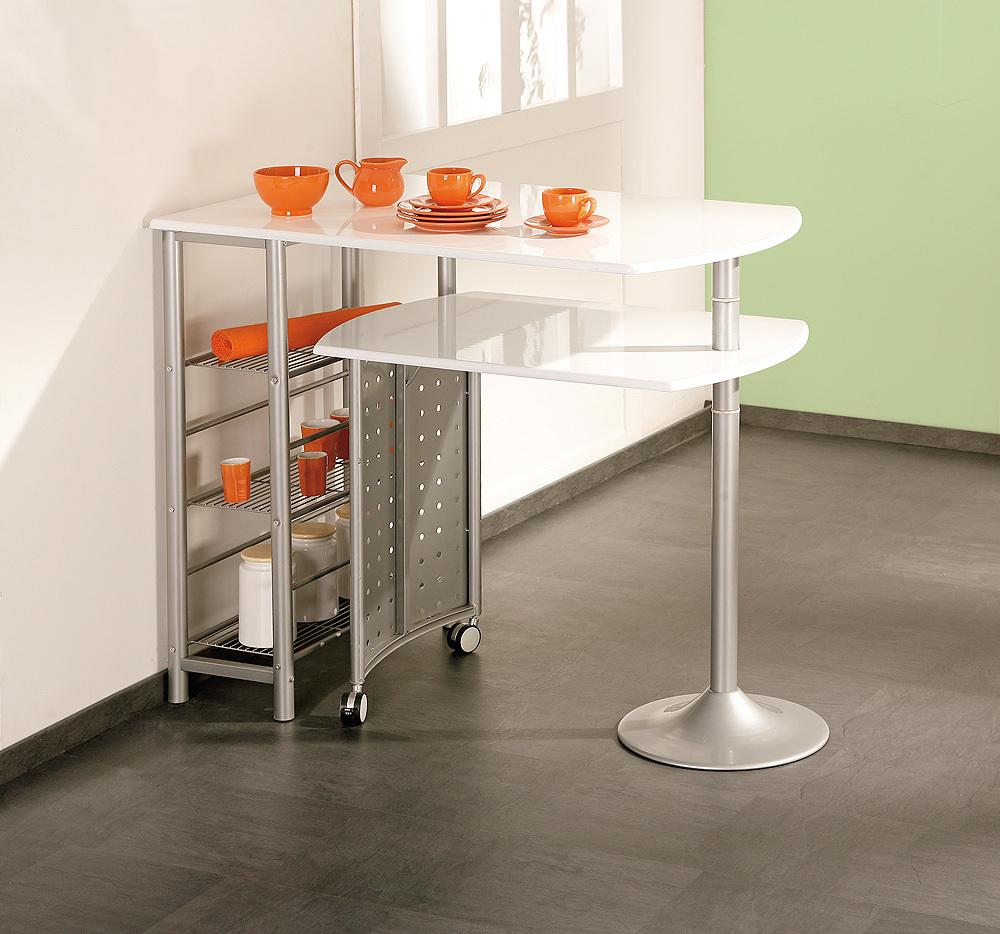 Tavolo moderno in metallo compact per cucina salvaspazio - Tavoli salvaspazio per cucina ...