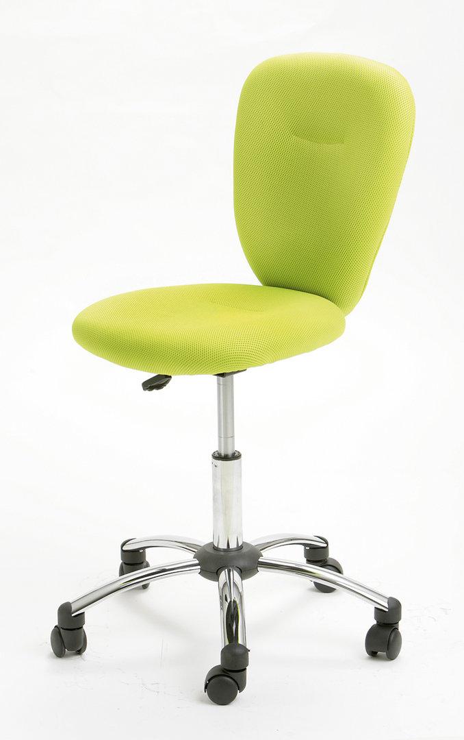 Sedia moderna Jenny, con ruote in 4 colori, per studio, ufficio