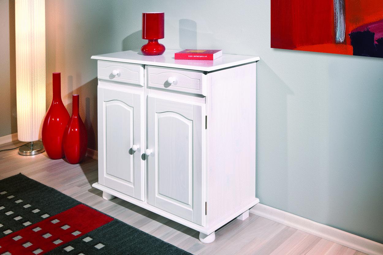 Credenza Per Ingresso : Credenza fiona bianca mobile soggiorno ingresso moderno in legno