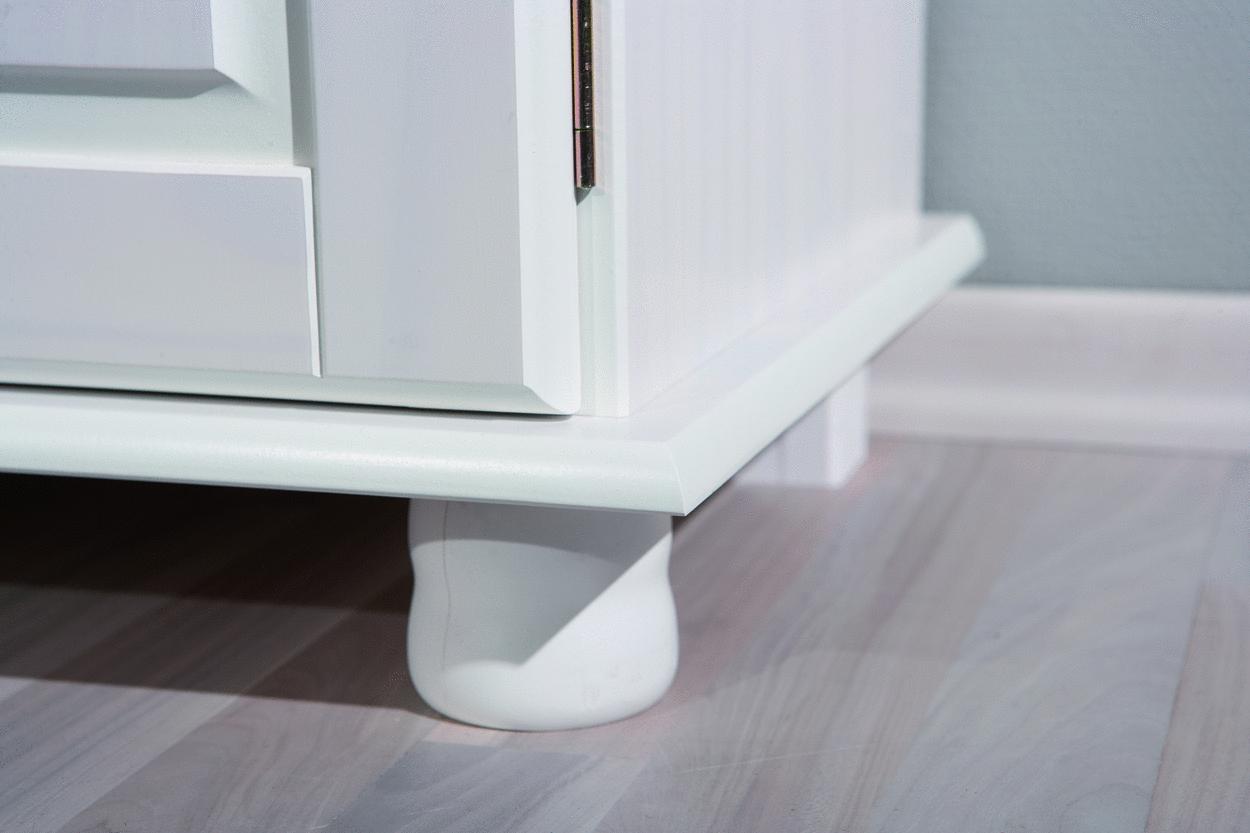Credenza Moderna In Legno Massello : Credenza fiona bianca mobile soggiorno ingresso moderno in legno