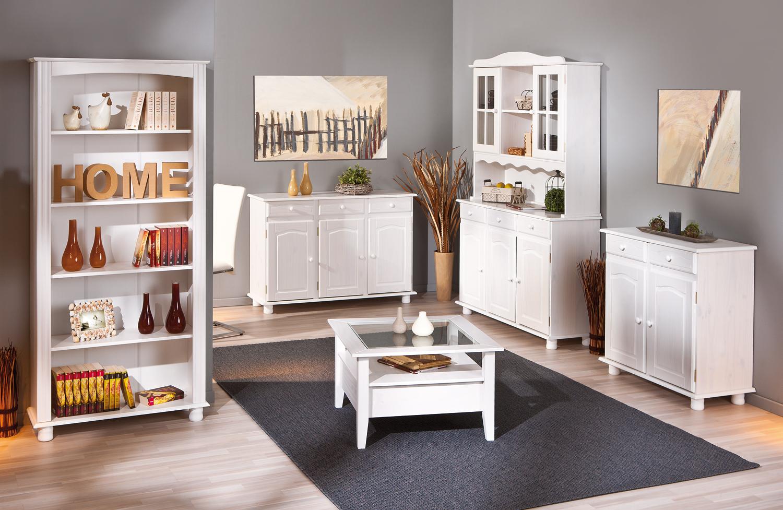 Credenza Moderna Legno Massello : Credenza fiona bianca mobile soggiorno ingresso moderno in legno