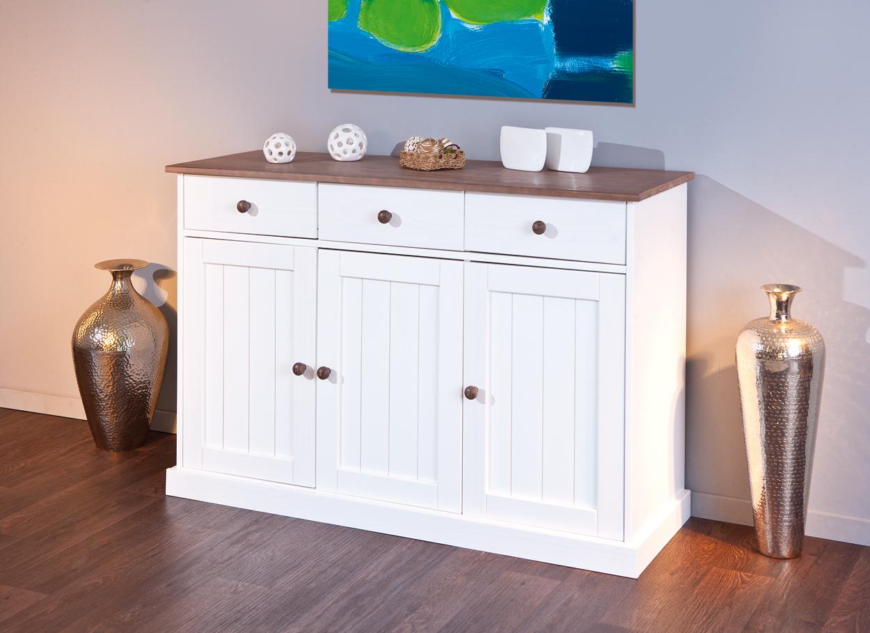 Credenza Moderna Bianca Legno : Madia bianca linda credenza in pino massello mobile soggiorno