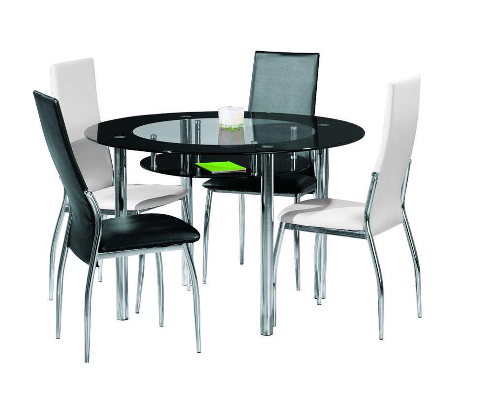 Glass tavolo moderno in vetro, tavolo in due modelli per cucina