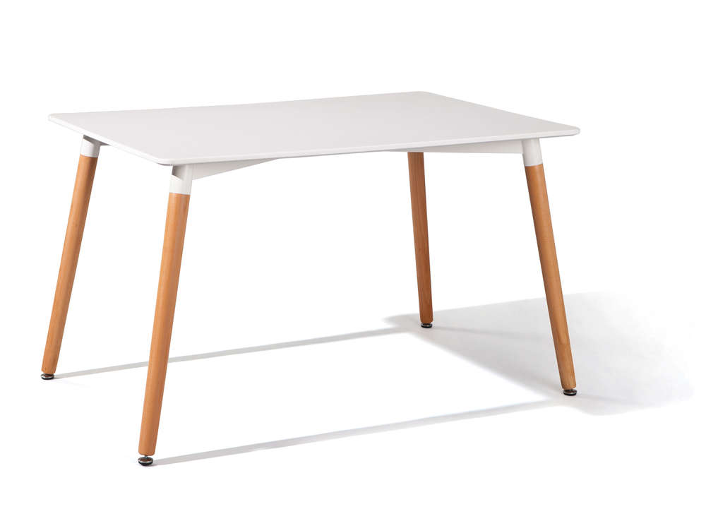 Tavolo da pranzo moderno blanc tavolo bianco e legno per cucina