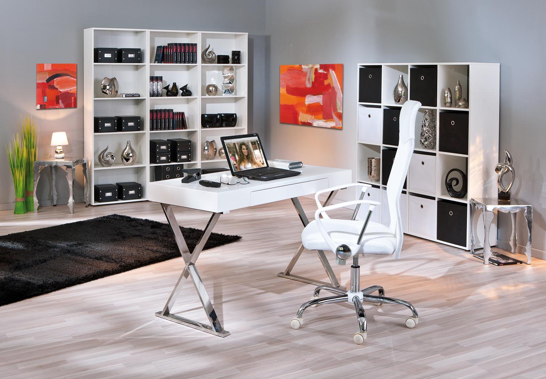 Mobile ufficio soggiorno di design scrivania bianca simona for Scrivania per soggiorno