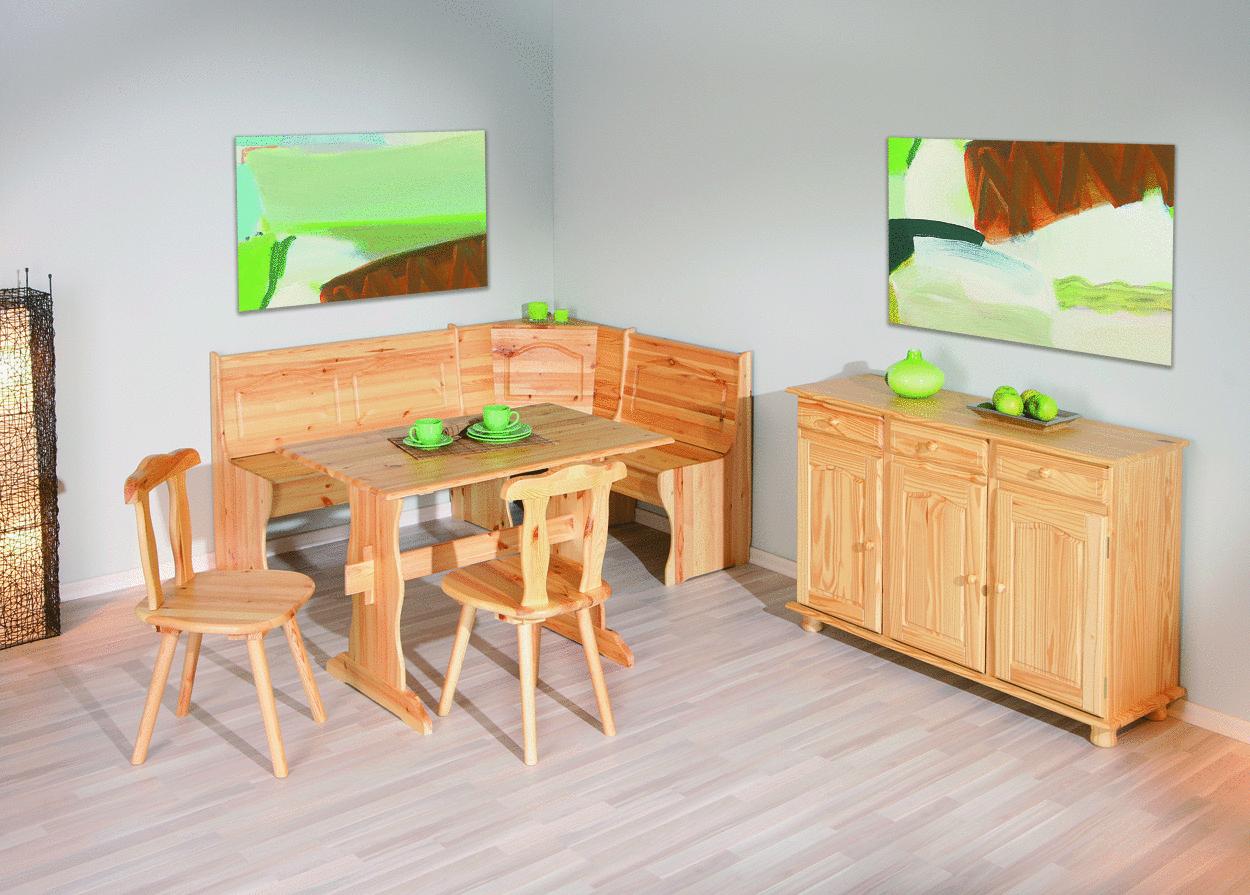 Norda angolo cucina taverna mobili in legno massiccio for Panca per cucina