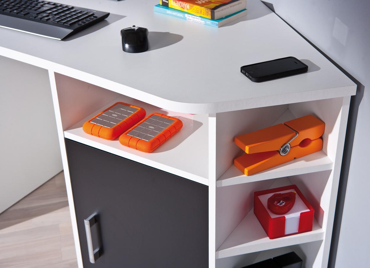 Scrivania Angolo Ufficio : Scrivania ad angolo moderna corner in due colori per ufficio