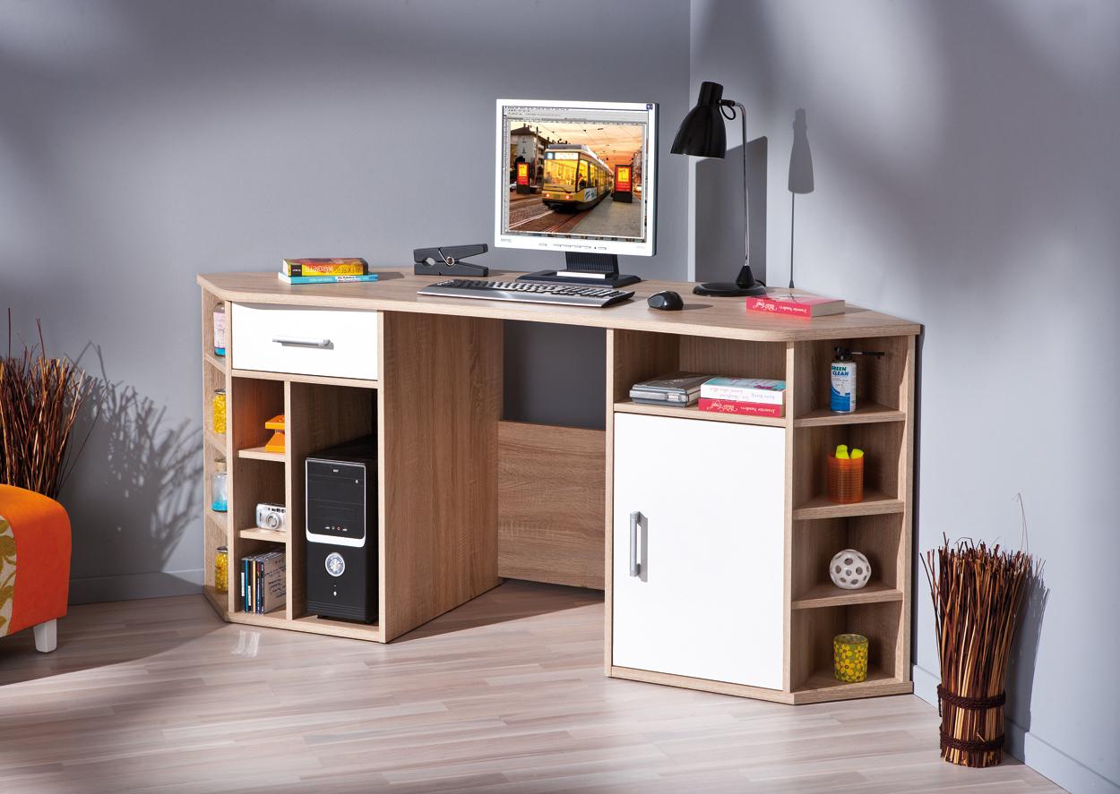 Arredamento Scrivania Studio : Scrivania ad angolo moderna corner in due colori per ufficio