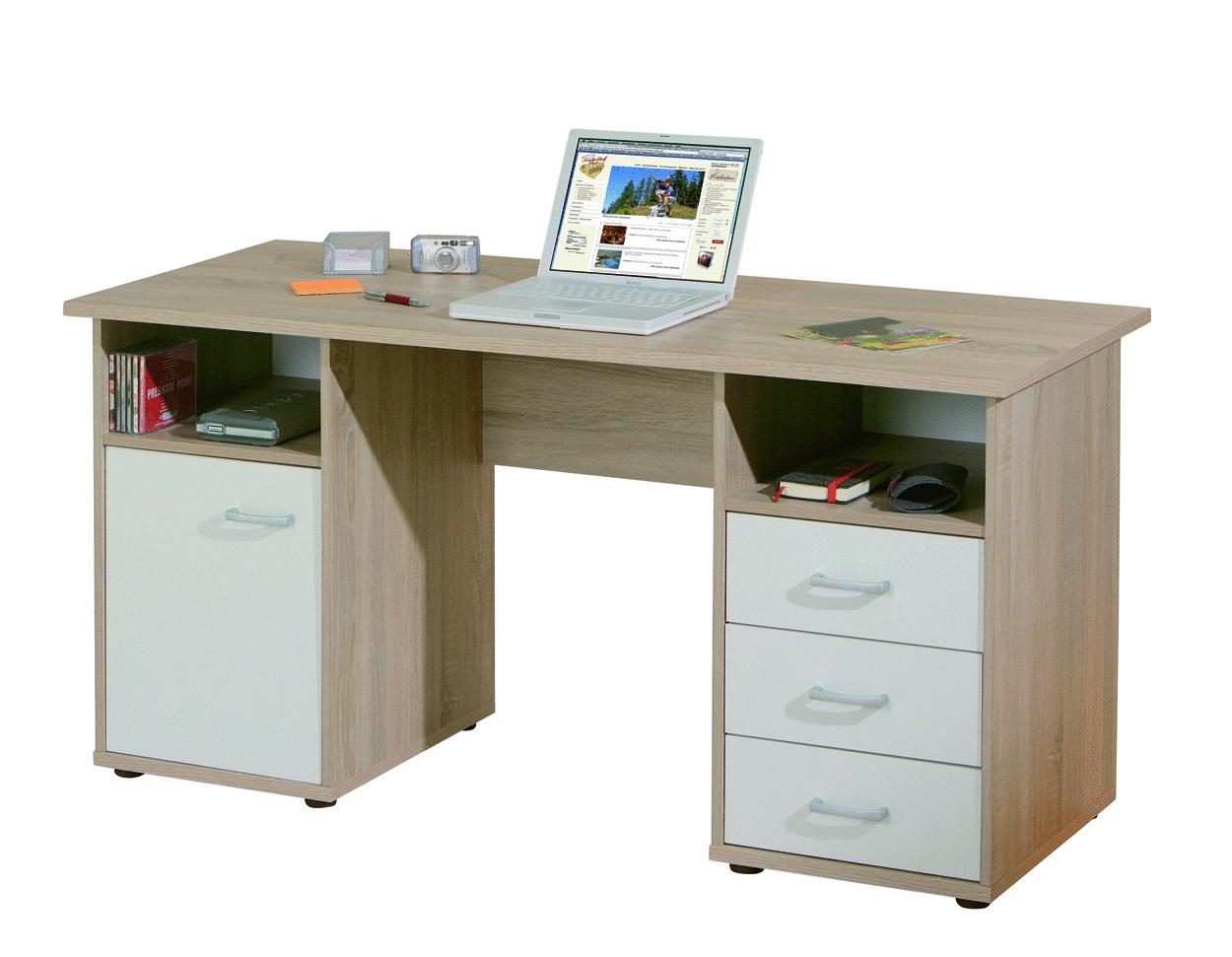 Desky scrivania moderna in tre colori mobile ufficio studio for Scrivania studio