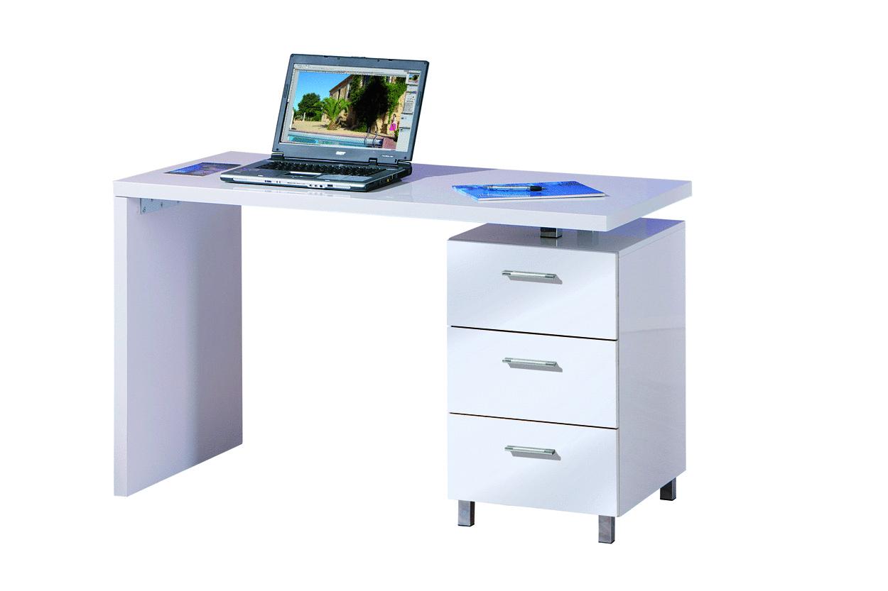 Scrivania bianca shark mobile ufficio studio soggiorno - Mobile con scrivania ...