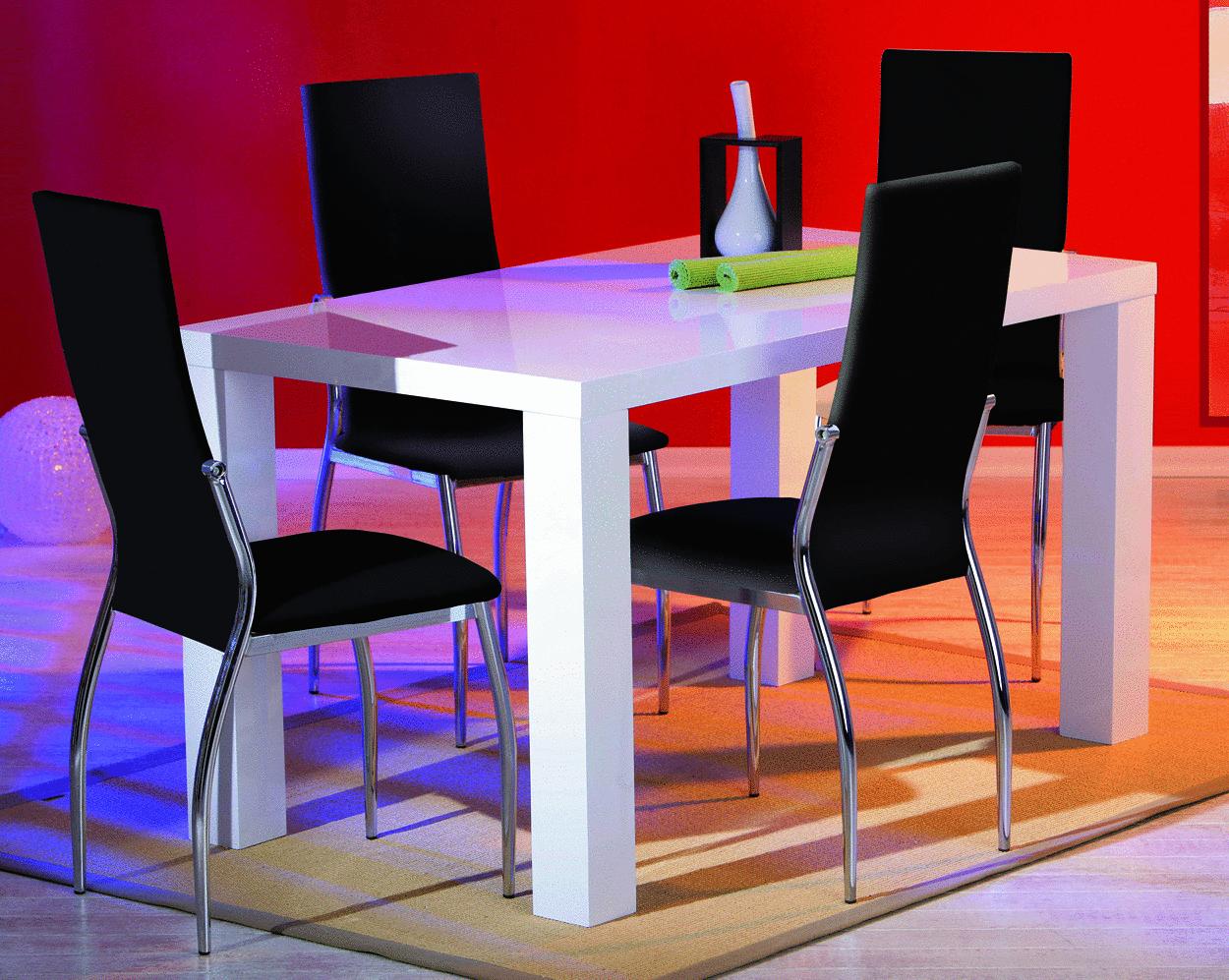 Sedia moderna bianca o nera mobile ufficio cucina sala for Sedie moderne design