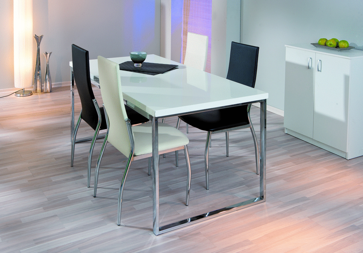 Sedia moderna bianca o nera mobile ufficio cucina sala for Sedia bianca moderna