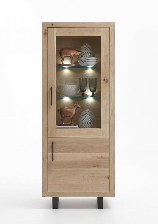 Vetrina in legno massiccio Gold, credenza soggiorno moderno